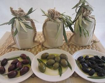 Greek Extra Virgin Olive Oil With Kalamon Or Chalkidiki Or Throumpa Olives.