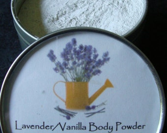 Lavender Vanilla Body Powder, Body Powder, Powder, Natural Powder, Talc Free Powder, Lavender, Vanilla, Bath Powder