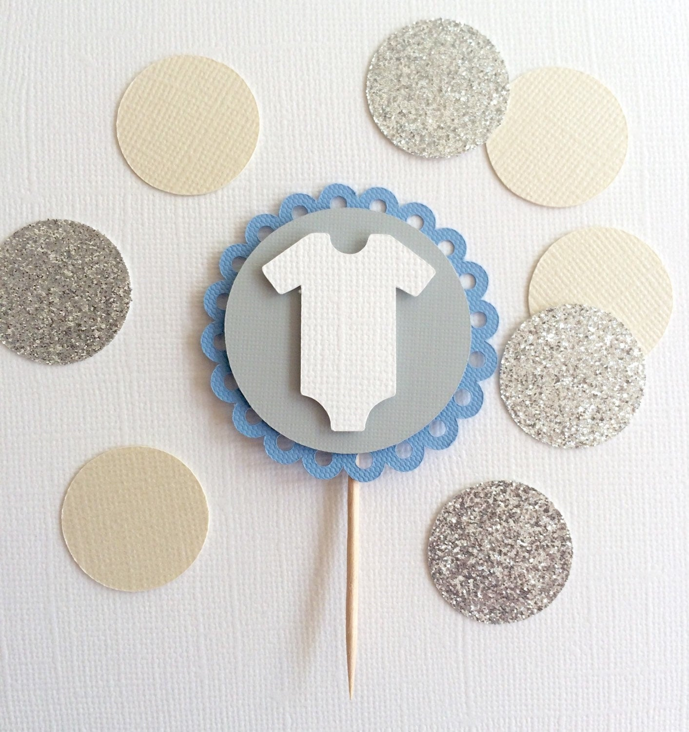 10 sie Baby Boy Cupcake Toppers Baby Shower Cupcake Toppers