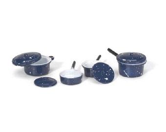 Pots & Pans Lids 8 Pieces Miniature Kitchen Decor Dollhouse Fairy Garden