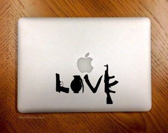 Love, Weapons - Laptop Decal