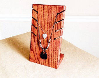 Necklace Holder Display - Custom Made in Your Choice of Stain Color