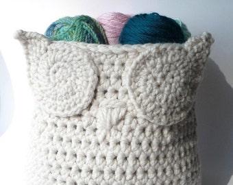 Crochet Pattern Owl Basket Crochet Pattern Home Decor Crochet Owl Pattern Crochet Basket Pattern Crochet Owl Bin Container Pattern