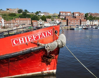 Whitby, Harbour, Boat, Sailing, North Yorkshire, Coast, English, Seaside, Esk, River, Water, Photo, Photography, Fine Art, Print,