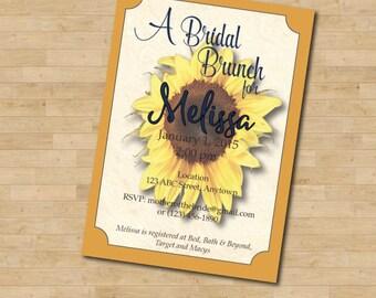 Bridal Shower Sunflower Invitation