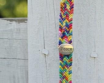 Give Peace a Chance Handmade Bracelet