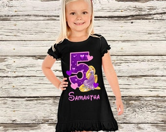 Tangled Birthday Dress - Rapunzel Birthday Dress Black
