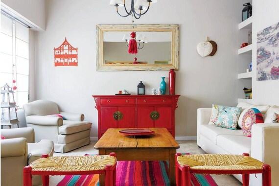 Bolivian rug bolivian blanket boho rug peruvian rug for Ideas para decorar el living comedor