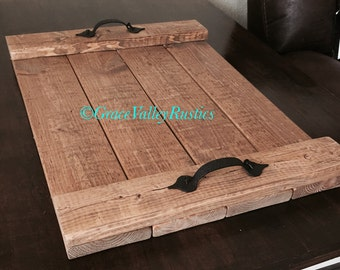 Rustic Serving Tray - Serving platter - Hand Crafted