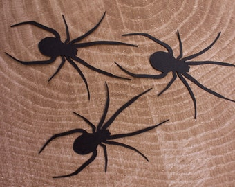 Black Spider Die Cut - Halloween - Spider Silhouette - Black Widow Spider