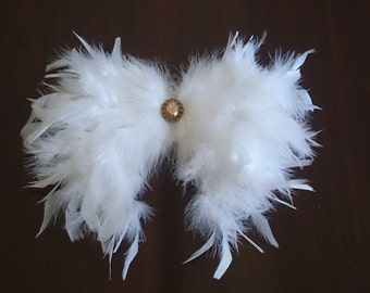 Simply Gorgeous Heart Angel Wing, White Angel Wing for Baby Photo Props, New Born Baby Wing