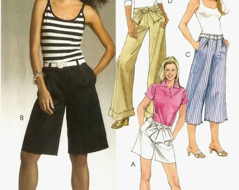 McCall's sewing pattern M5333 wide leg pants and shorts - Size 4-10