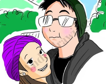 Get you Custom and original comic portrait!