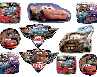 Disney Cars Movie 2 Birthday Balloon Foil Mylar Party Supplies Disney Cars Party Decor Tow Matter Finn McMissile