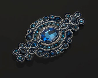 "Soutache hair clip ""Retrò"""