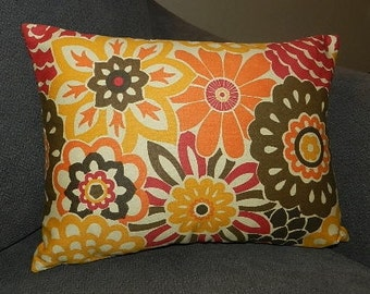 2 Sizes Available - Waverly Button Blooms  Pillow Cover