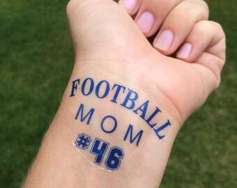 Football Mom Tattoo Season Game Day Temp Fake
