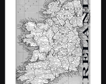 Ireland Map - Print - Poster - Title Map