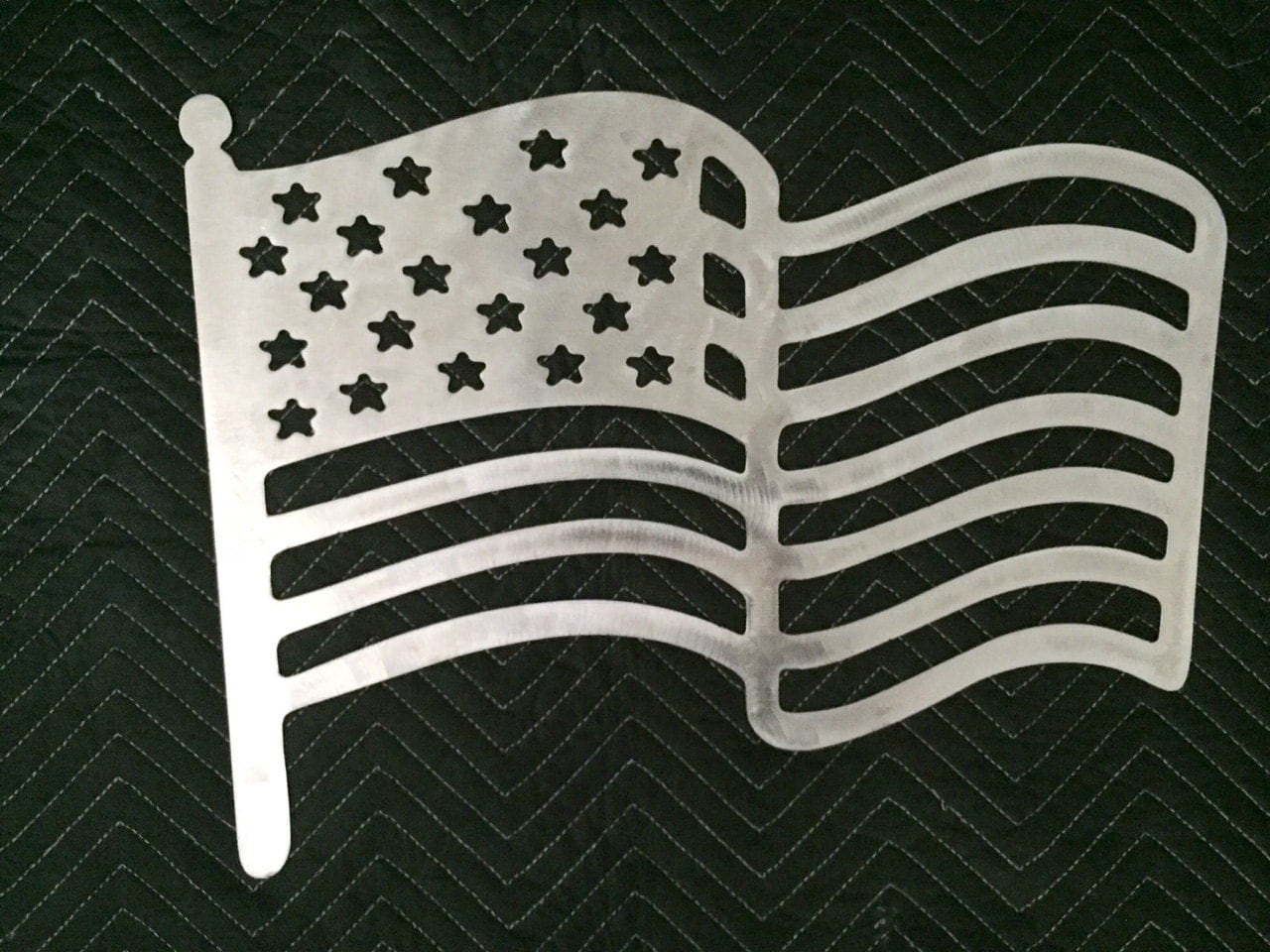 Metal american flag decor by elevatedconceptsinc on etsy for American flag decoration