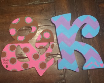Hand-Painted Custom Letters
