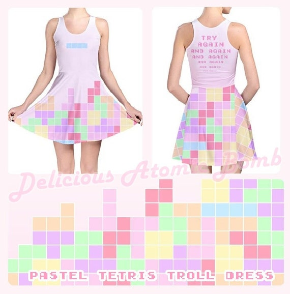 Pastel Tetris Troll Dress