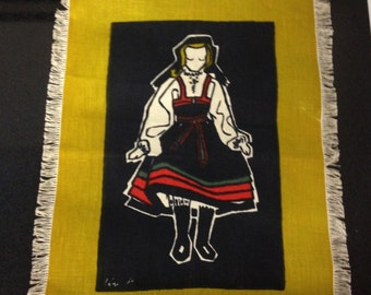 Vintage Liv Hassel Textile - Young Scandinavian Girl