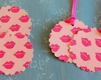 Lip tags, kisses tags