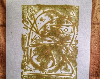 Observatory 123108. An abstract etching. 2/2