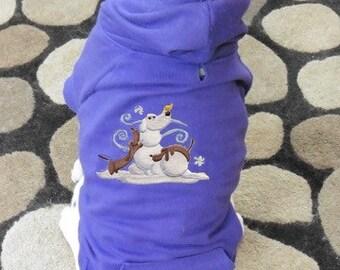 Snow Pals Dogs Dog Hoodie Sweatshirt