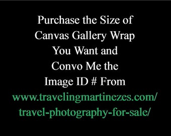 Photograph of Your Choosing from TravelingMartinezes Gallery Printed on a Canvas Gallery Wrap