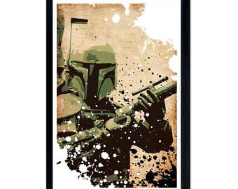 """Star Wars Boba Fett minimalistic poster, 11""""x17"""""""