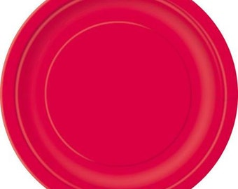 Red Dessert Paper Plates (7in.)  70ct