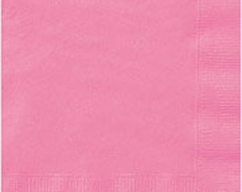 Pink Luncheon Paper Napkins 2 Ply 75ct