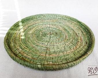 grass platter / grass tray / grassy plate