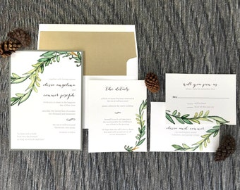 Wedding Invitation, To Have & To Hold Wedding Invitation, Rustic Wedding Invitations, Wedding Invites - Invitation Sample Kit