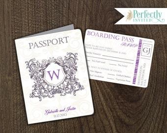 Passport Wedding Invitation, Royal Wedding Invitation, Victorian Wedding Invitations, Wedding Invites - Design Deposit
