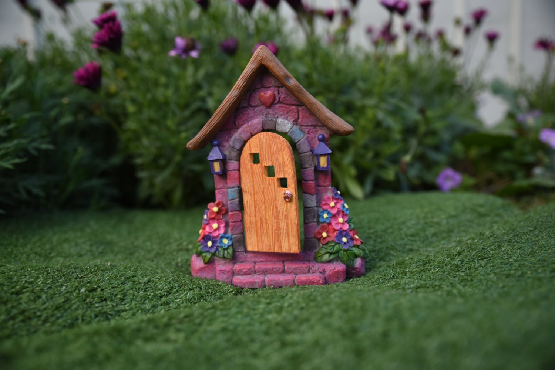 Rainbow fairy door by fairydellmagic on etsy for Rainbow fairy door