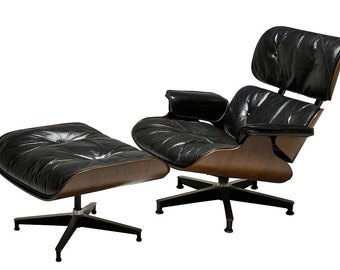 Brazilian Rosewood Charles and Ray Eames Lounge Chair and Ottoman