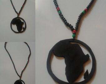 RBG Africa circle necklace