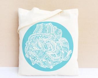 Tote Bag / Sac coton bio / Sac Shopping - La Vie en Rose II