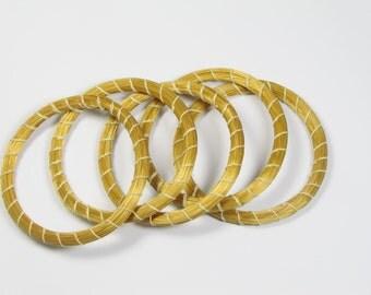 Set of 2 medium goldengrass Brazilian bracelets