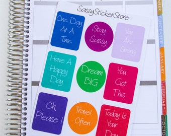9 Sassy Quote Stickers For Planners