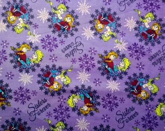 Disney Frozen Sisters Forever Flannel Fabric