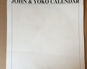 1970 John and Yoko White Calandar