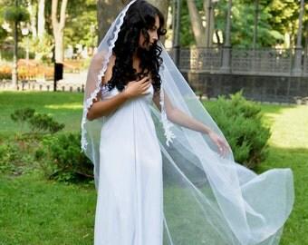 Chapel veil, mantilla veil lace, Cathedral veil, Wedding Veil, lace veil, veils,Mantilla Veil, English tulle Lace Veil, Lace Veil, mantilla