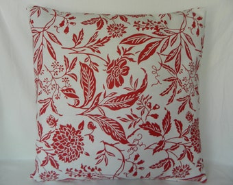 """White & Red Pillow Cover 18"""" x 18"""" by Myidealdesigns"""