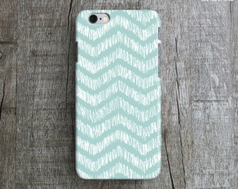 TURQUOISE iPhone 6 Case. Chevron iPhone Case. Pattern iPhone 6 Plus Case. Hand Illustration iPhone 6 Case. Teal iPhone Case. iP6 Cover.