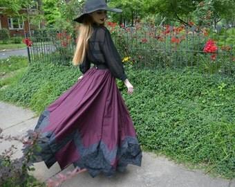 Customizable Cotton Maxi Skirt