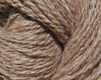 Hand spun shetland wool yarn, natural beige