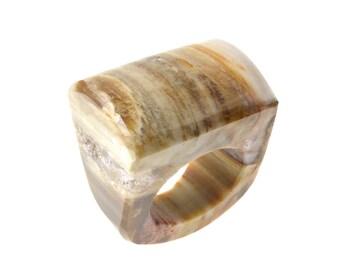 Size 7 Petrified Wood Ring